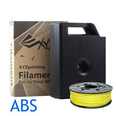 Neon Yellow ABS Da Vinci filament cartridge
