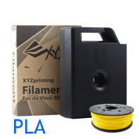 Yellow PLA XYZ Da Vinci 3D printer filament cartridges