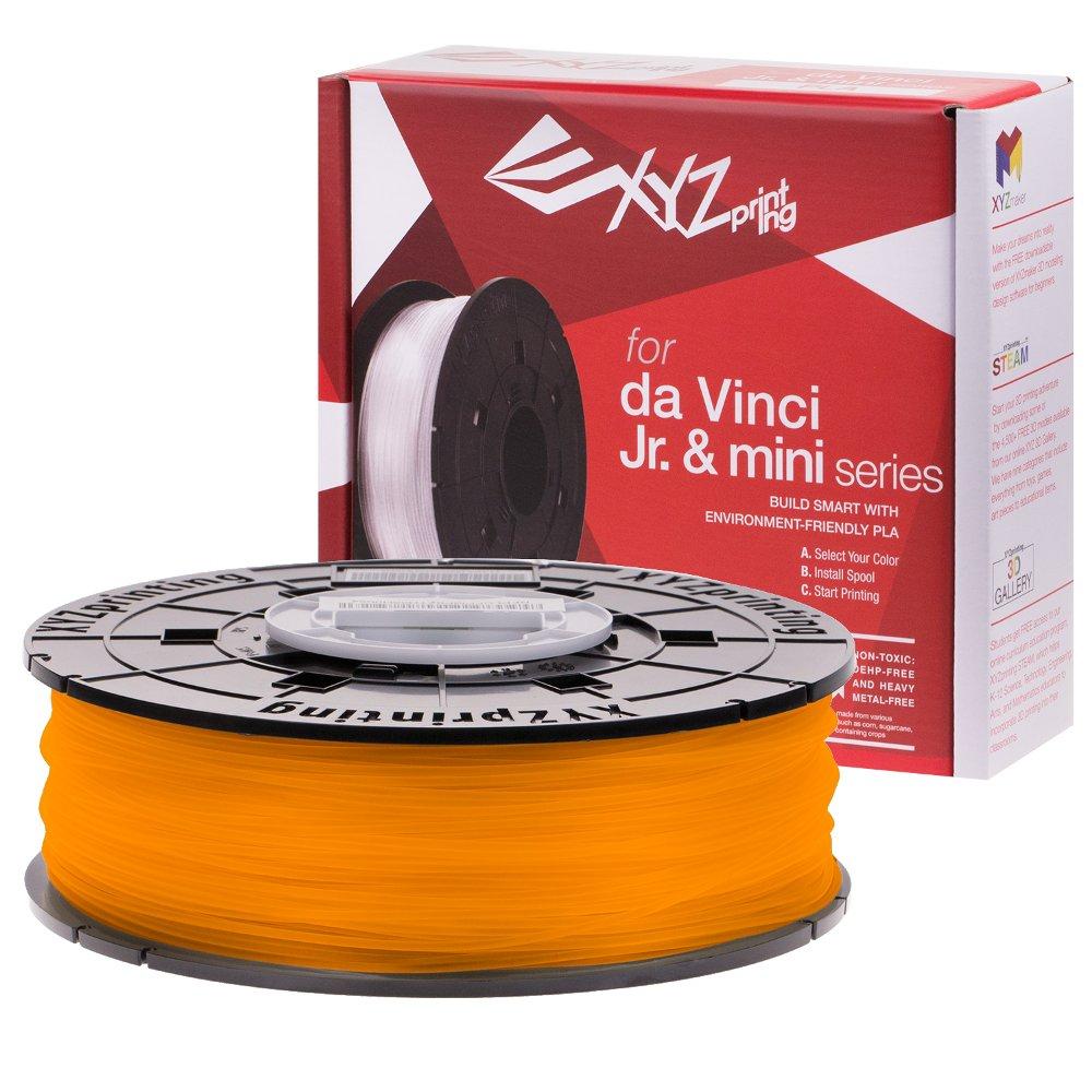 Clear Tangerine PLA for the Da Vinci Junior, Da Vinci Nano and Da Vinci Minimaker