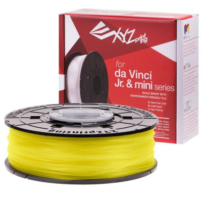 XYZ clear Yellow PLA for the Da Vinci Junior, Da Vinci Nano and Da Vinci Minimaker