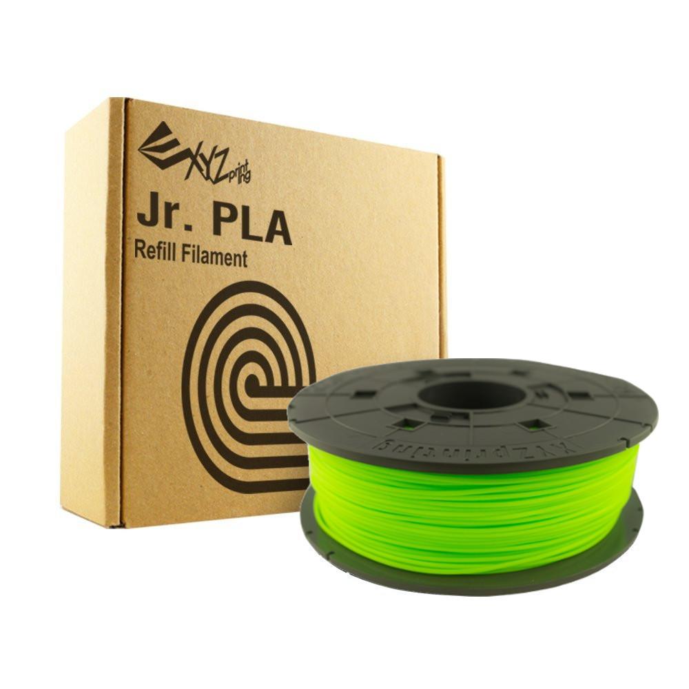 Neon Green XYZ Jr Filament by XYZprinting for the davinci junior
