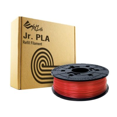 Da Vinci Junior Clear Red PLA filament