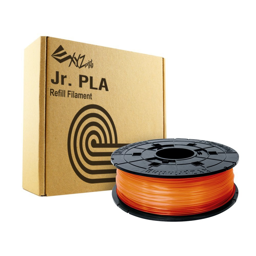 Clear Tangerine Dav vinci Junior PLA filament