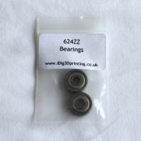 2 pack of 624ZZ Deep Grove Ball Bearings for 3D printers