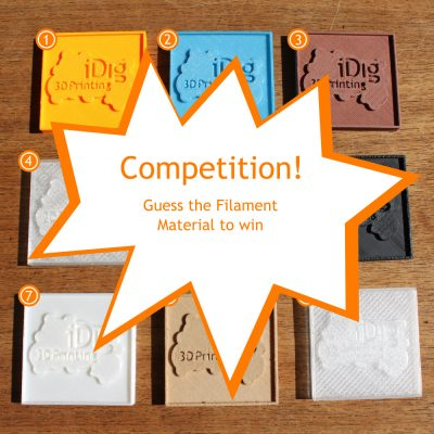 Guess the 3D printer filament competition