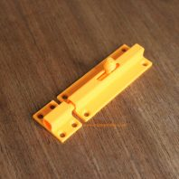 3D printable door bolt or latch
