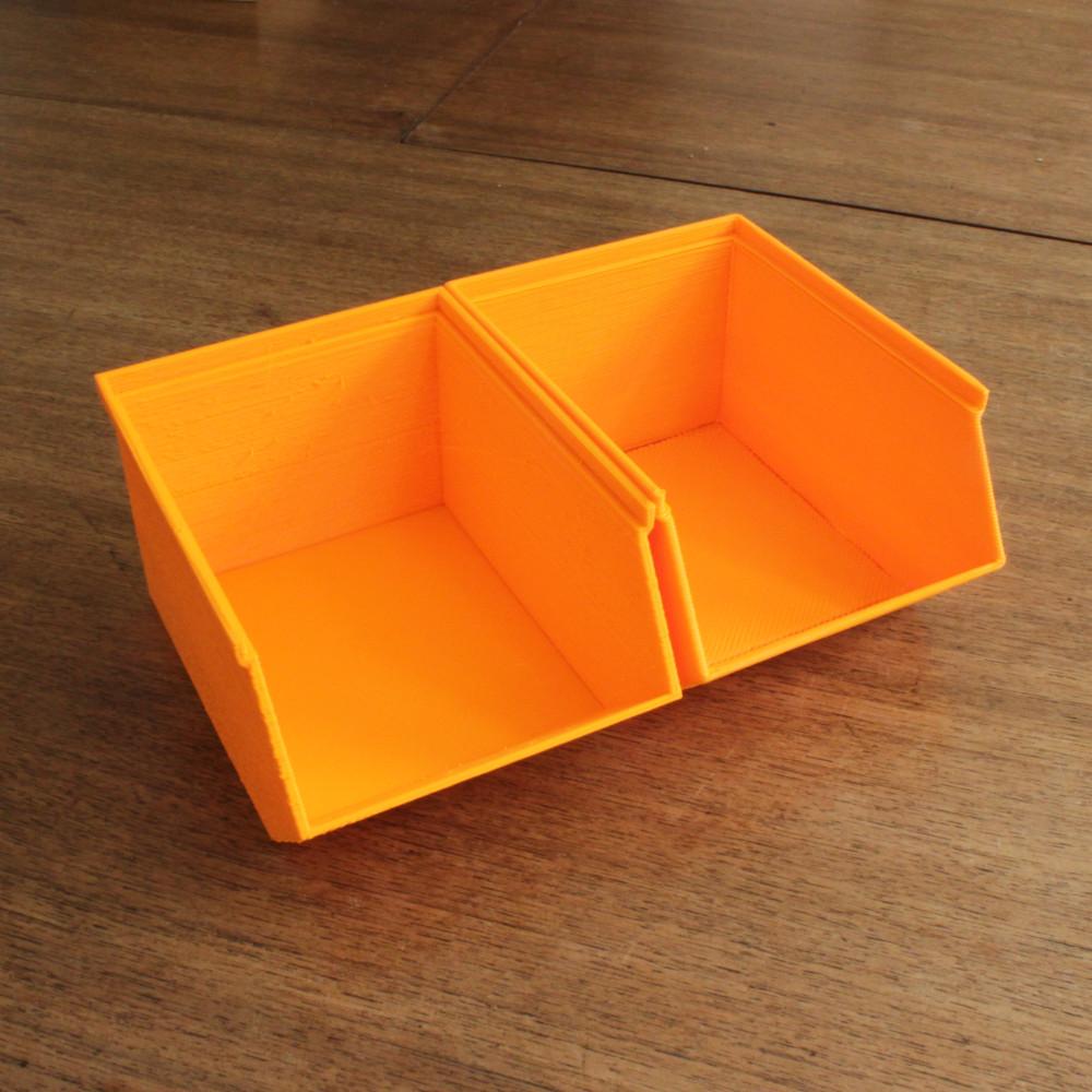 Easy 3D printable storage bins