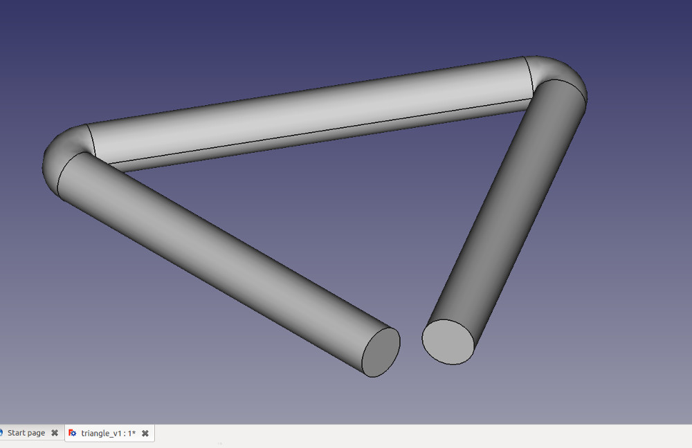 and extruded triangle for export to .stl file