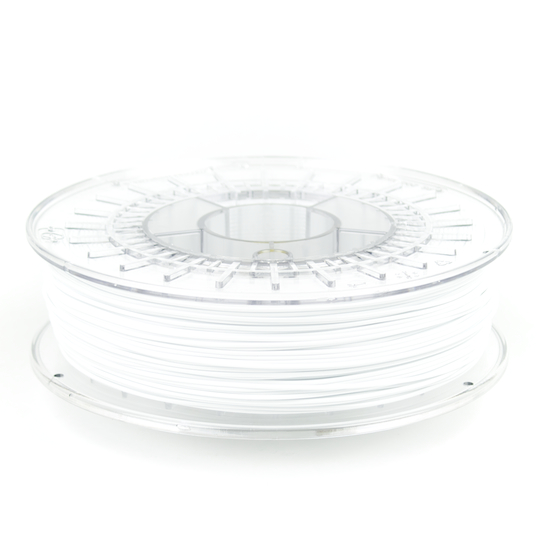 White colorfabb_XT 3D printer filament in 1.75mm and 2.85mm diamters