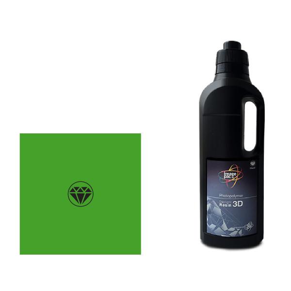 Hard green daylight SLA resin for the Liquid Crystal 10 SLA 3D printer