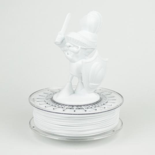 White colorfabb XT 3D printer filament model