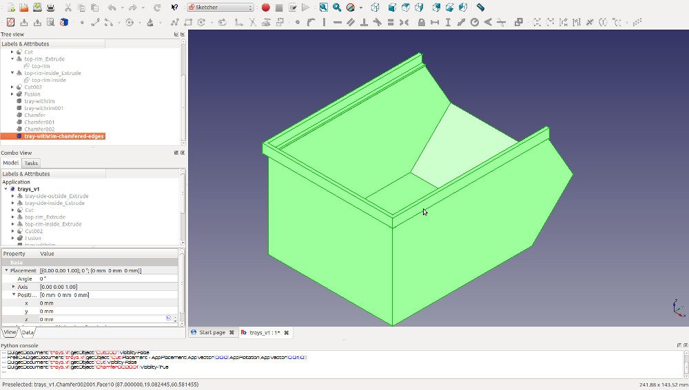 Fuse the solids you have made to complete your 3D printable storage bin
