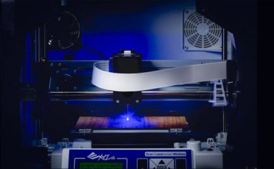 The Dav Vinci Junior 3 in 1 3D printer with optional laser engraver