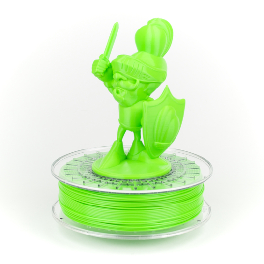 light green colorfabb food contact compliant 3D printer filament