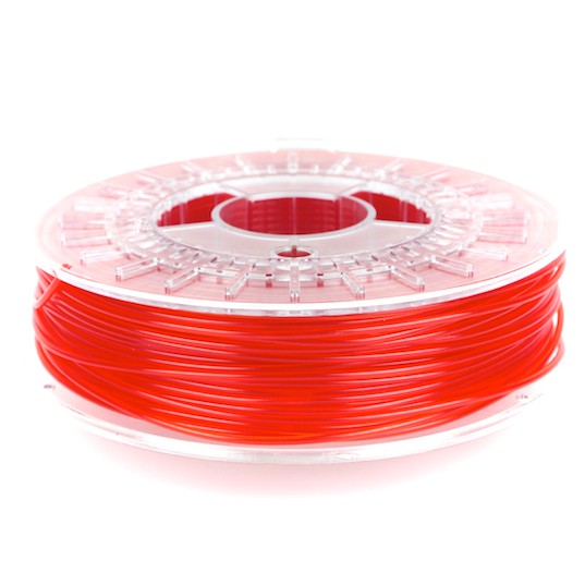 transparent red colorfabb PLA filament