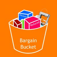 Bargain Bucket 3D printing supplies