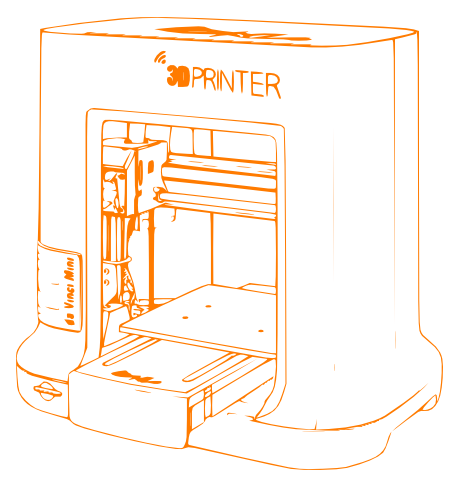 XYZ printing Da Vinci junior Desktop 3D printer for the home