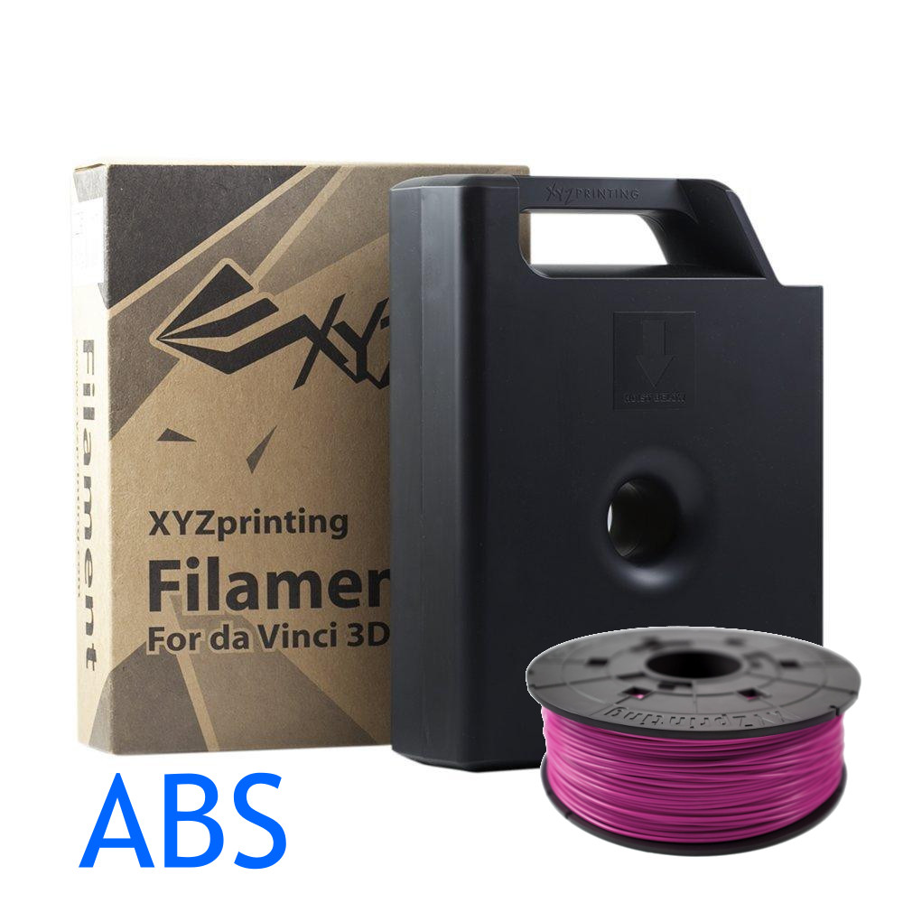 ABS Purpurin Da Vinci 3D printer filament cartridge