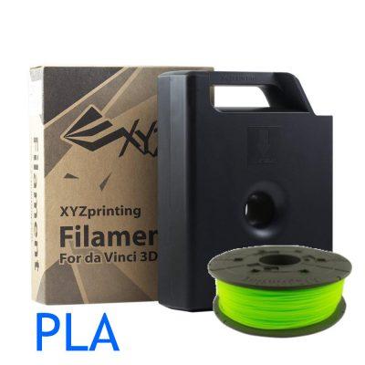 Neo Green Da Vinci PLA 3D printer filament cartridge and refill