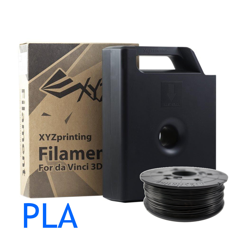 XYZ printing Da Vinci Black PLA filament cartridge and refill