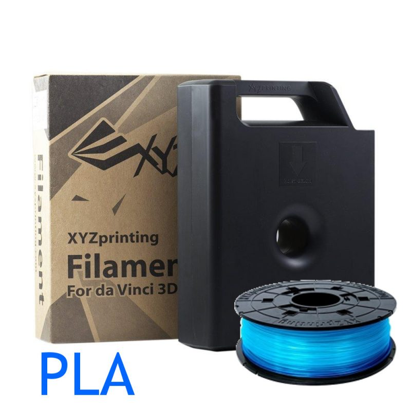 Clear Blue XYZ Printing Da Vinci PLA 3D printer filament