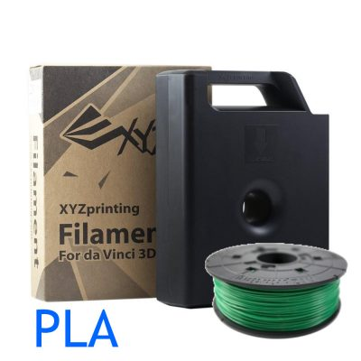 Clear Green PLA 3D printer filament Cartridge and refills for XYZ printing Da Vinci 3D printers