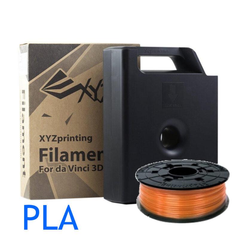 Clear Tangerine PLA for the Da Vinci 3D printer