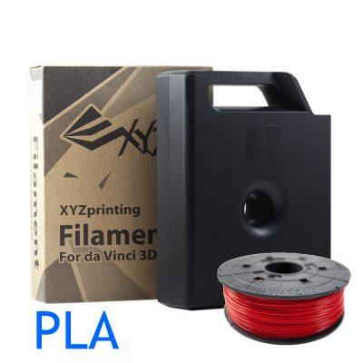 Red Dav Vinci PLA filament cartridge and refill