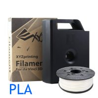 Pearl White Da Vinci PLA filament cartridge and refill