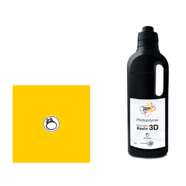 Castable Amber Daylight Resin for the Liquid Crystal 3D printer from Photocentric