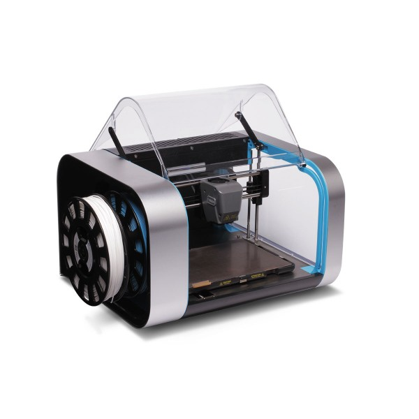 Robox dual extruder 3D printer with open print chamber