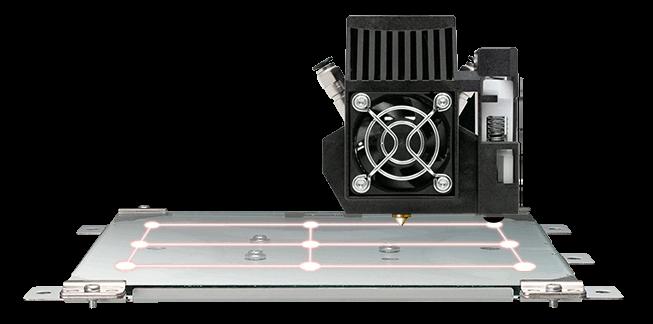 The xyz jr mix features a 9 point print bed level auto calibration feature