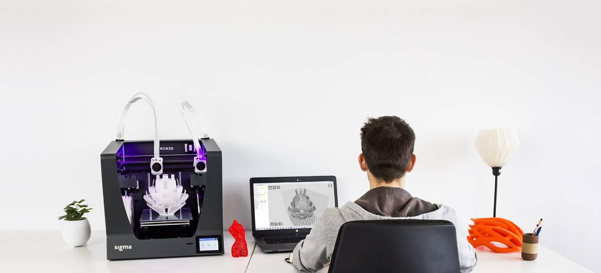 BCN3D Sigma professional desktop 3D printer with dual extruder