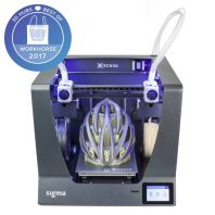 The BCN3D Sigma R17 dual extruder 3D printer