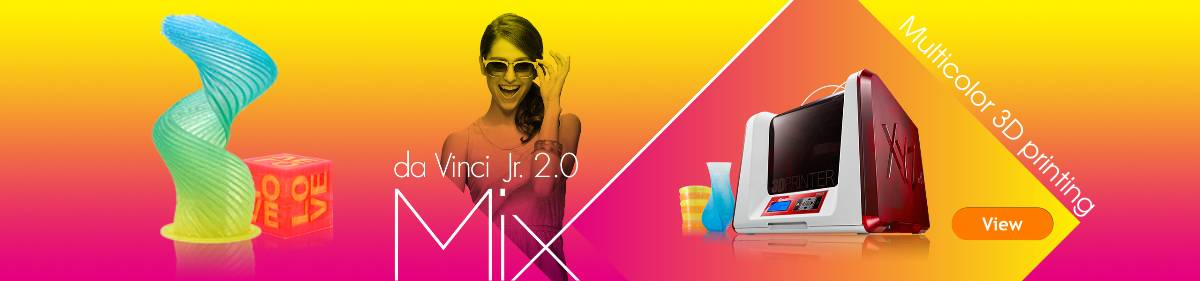 The XYZ Da Vinci Mix multi colour 3D printer
