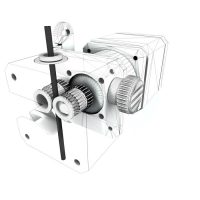 The BCN3D Sigma features a high performance bondtech gear system in the extruder