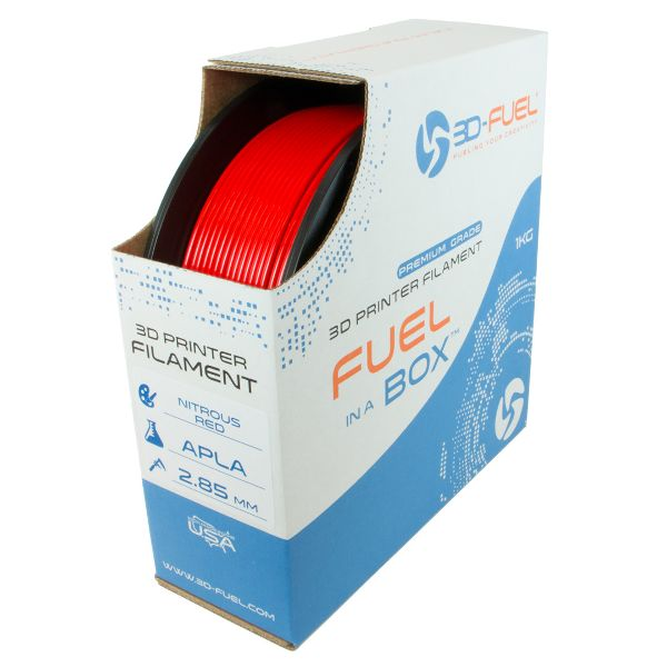 Fire Engine red APLA filament from 3Dfuel