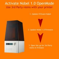 Nobel 1.0 SLA 3D printer is compatible with 3rd Party Resins