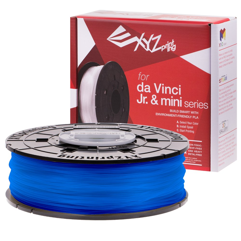 XYZ printing Da Vinci Junior Clear Blue PLA