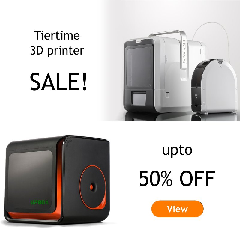 January sale of Tiertime 3d printers