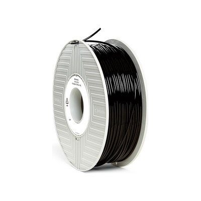 Black verbatiom pla 3d printer filament in 1.75mm and 2.85mm diameters