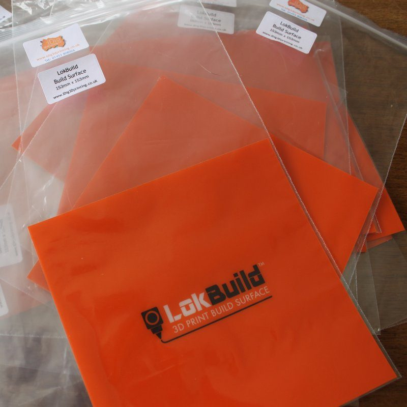 LokBuild 3D printer print surface to improve print adhesion