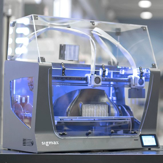 The BCN3D simax comes with an optional enclosure