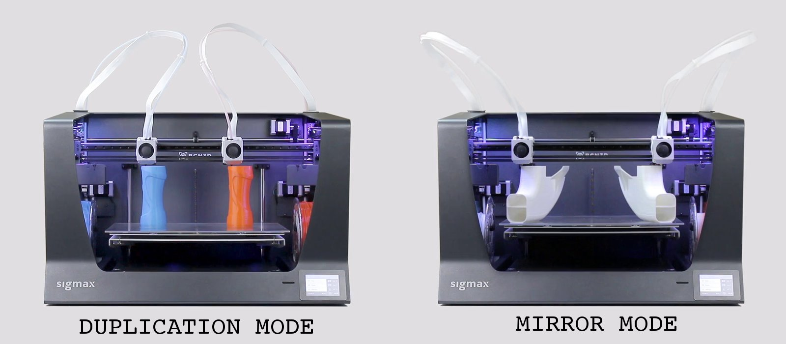 BCN3D Sigmax can 3D print multiple models as the same time