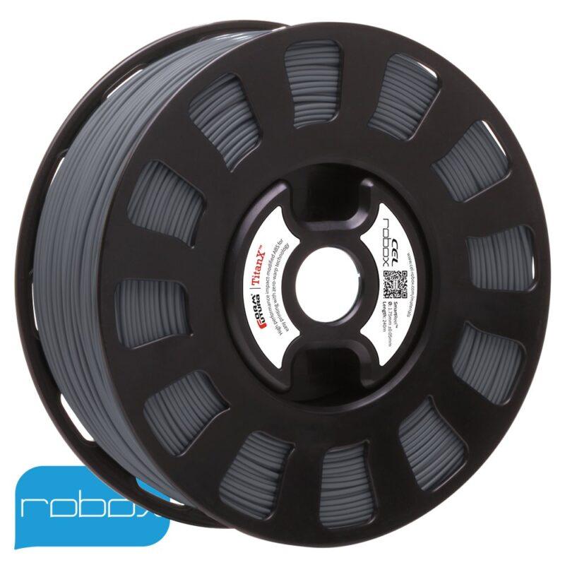 Titan X grey ABS filament for the Robox 3D printer