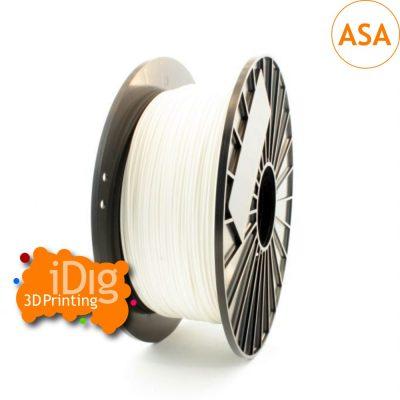 White ASA UV resistant 3D printer filament