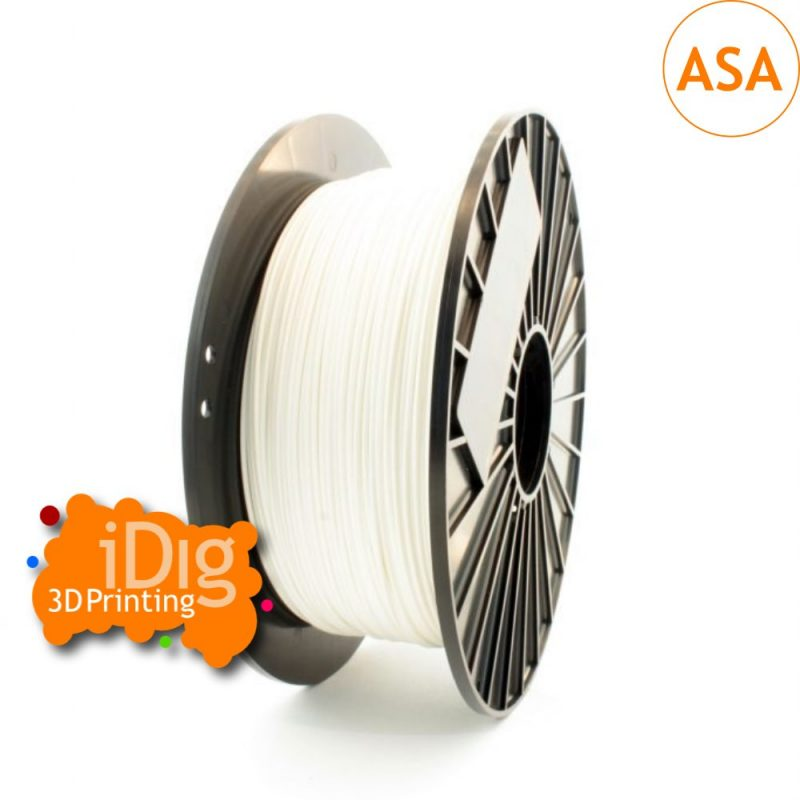 White ASA UV resistant 3D printer filament