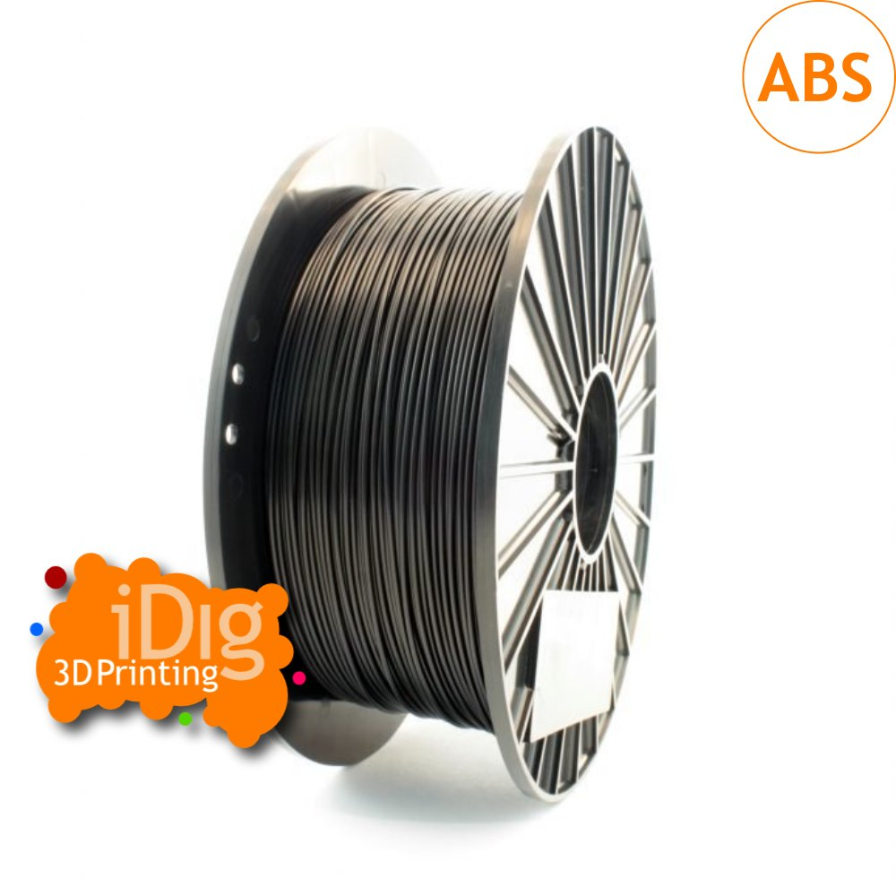 quality black ABS filament from iDig 3D printing