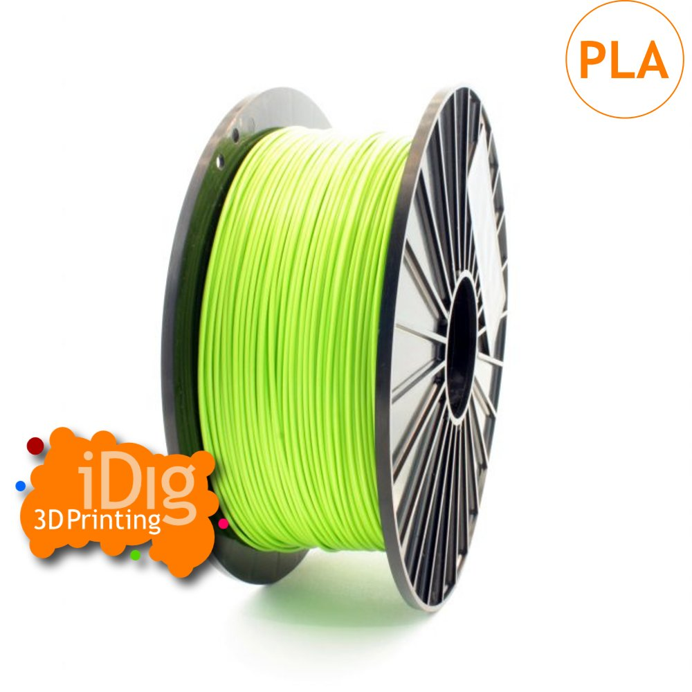 Light green pla filament in both 1.75mm and 2.85mm diameters