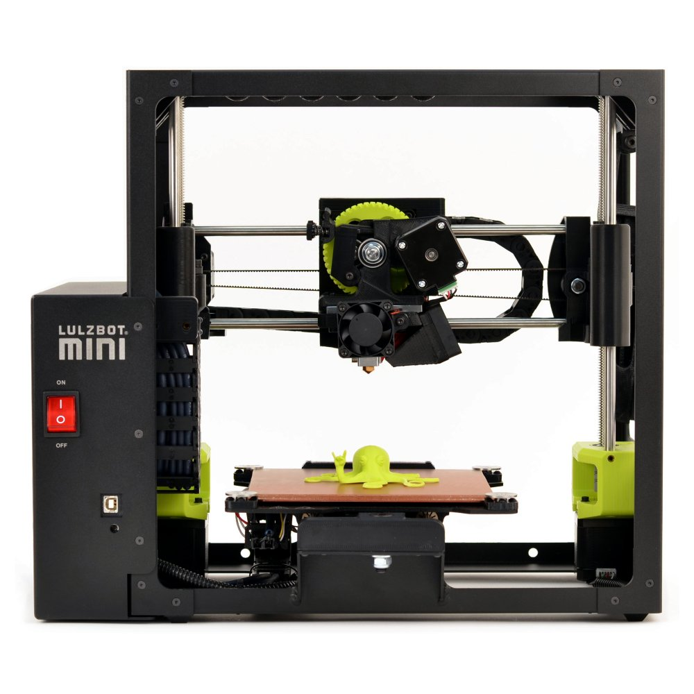 lulzbot taz mini 3d printer front view